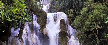 kuang si falls Palace in Laos